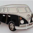 3D Black VW Van Belt Buckle Volkswagen Hippie Peace Bus Camper Van Retro