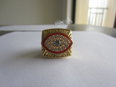 REPLICA 1982 Super bowl XVII CHAMPIONSHIP RING Washington Redskins MVP Player Riggins 11S NIB