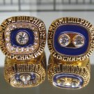 2pcs One set 1972 1973 Miami Dolphins Super bowl VII VIII CHAMPIONSHIP RING  11S  MVP player Robbie