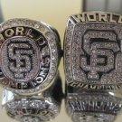 One set 2pcs 2010 2012 San Francisco Giants MLB Baseball world series Championship Ring 11S