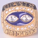NFL 1990 New York Gaints Super bowl  XXV CHAMPIONSHIP RING  11S  player SIMMS