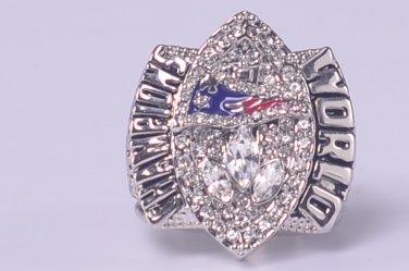 Promotion sale NFL 2004 New England Patriots Super bowl XXXIX CHAMPIONSHIP RING MVP Player Branch