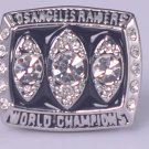 NFL 1983  Los Angeles raiders Super bowl XVIII CHAMPIONSHIP RING Player Mccall 11S Solid Back