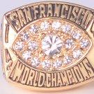 NFL 1981 San Francisco 49ers Super bowl XVI CHAMPIONSHIP RING Player Montana 11S Solid