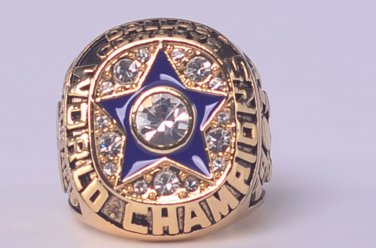 NFL 1971 DALLAS COWBOYS Super bowl VI CHAMPIONSHIP RING MVP Staubach 11S Solid Back