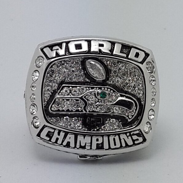 2013 Seattle Seahawks XLVIII NFL super bowl championship ring size 10S