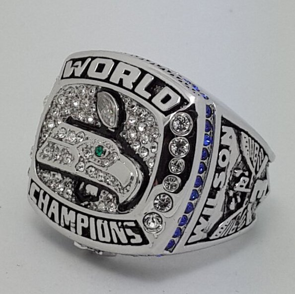 2013 Seattle Seahawks XLVIII NFL super bowl championship ring size11