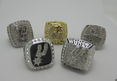 One set 1999 2003 2005 2007 2014 San Antonio Spurs Championship Ring Duncan 10S