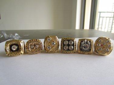 NFL One set 1974 1975 1978 1979 2005 2008 Pittsburgh Steelers Super bowl CHAMPIONSHIP RINGS 11S NIB