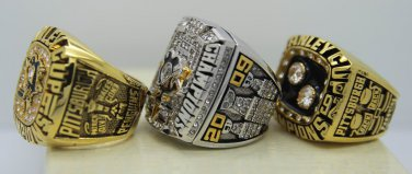 1 Set (3pcs)1991 1992 2009 PITTSBURGH PENGUINS NHL Stanley Cup Championship Rings 12S