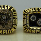 1 Set (2pcs)1991 1992 PITTSBURGH PENGUINS NHL Stanley Cup Championship Rings 11S
