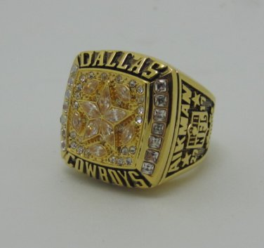 NFL 1995 DALLAS Cowboys Super bowl XXX CHAMPIONSHIP RING  Player AIKMAN 12S Copper solid