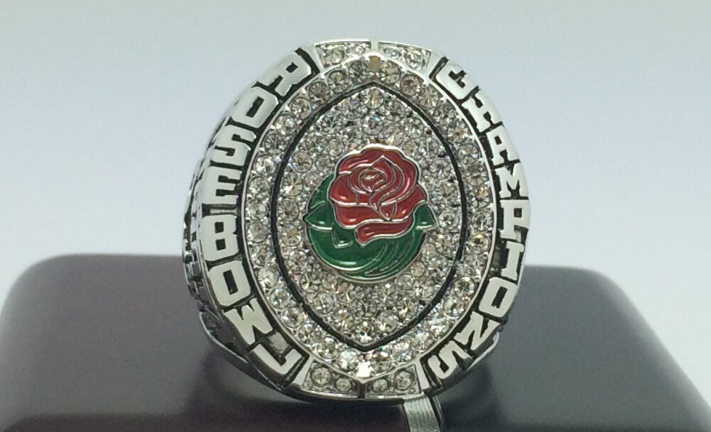 2015 Oregon Ducks Rose Bowl National championship ring 8-14S for sale
