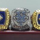 3 PCS 1969 1986 2015 New York Mets World Series ring 8-14S with wooden case