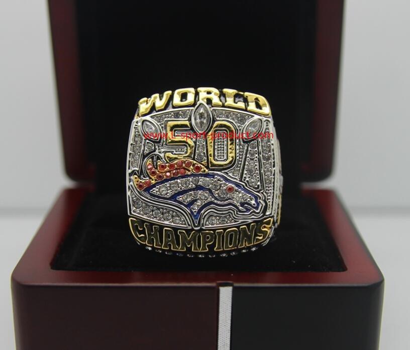 On sale NFL Manning ring 2016 Denver Broncos super bowl  Rings 8-14S copper with wooden case