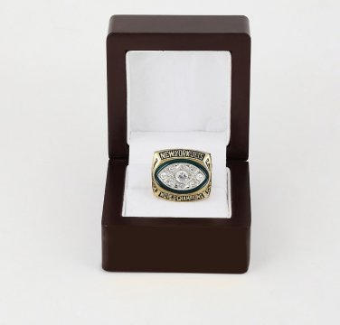 1968 Super bowl CHAMPIONSHIP RING New York Jets 10-13 size with wooden case