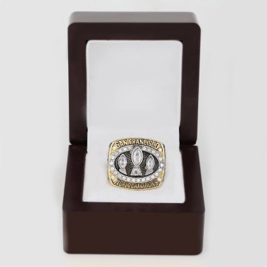1988 Super bowl CHAMPIONSHIP RING San Francisco 49ers 10-13 size with wooden case