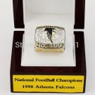 1998 Atlanta Falcons NFC CHAMPIONSHIP RING 10-13 size with wooden case