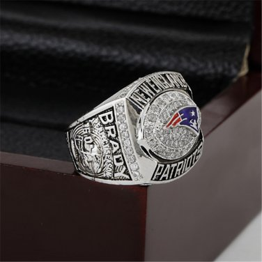 2007 New England Patriots AFC CHAMPIONSHIP RING 10-13 size with wooden case