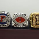 One Set 3 PCS 2008 Florida Gators BCS SEC and NCAA National championship ring 8-14 size