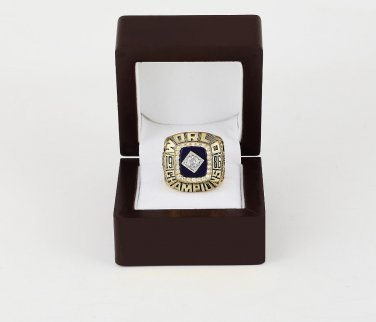 1986 NEW YORK METS World Series CHAMPIONSHIP RING 10-13 size +wooden case