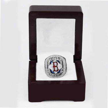2004 Boston Red Sox World Series CHAMPIONSHIP RING 10-13 size +wooden case