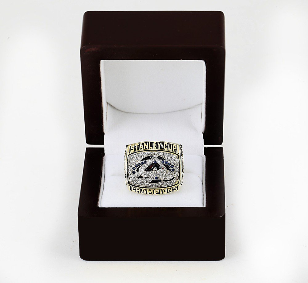 2001 COLORADO AVALANCHE NHL CHAMPIONSHIP RING 10-13 size +wooden case