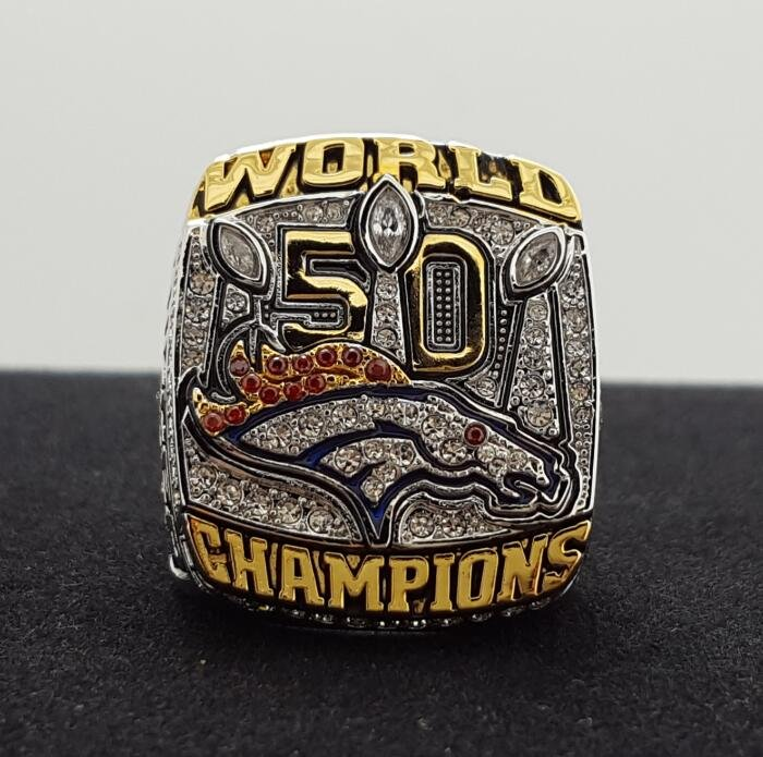 NFL Miller ring 2015 2016 Denver Broncos super bowl  Rings 10 Size copper solid back