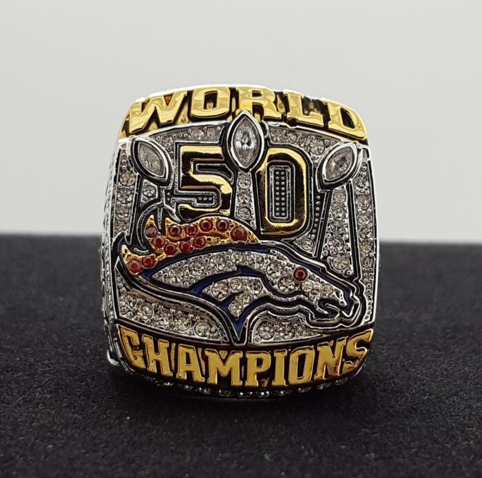 NFL Miller ring 2015 2016 Denver Broncos super bowl  Rings 12 Size copper solid back