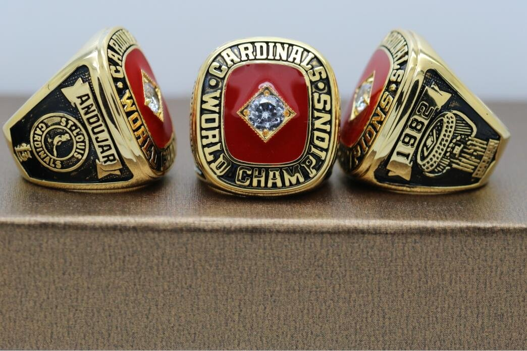 1982 St. Louis Cardinals Baseball World series Championship ring cooper ring size 14 US