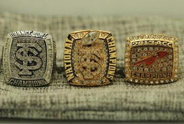 3PCS 2013 Florida States Seminoles National Championship Ring 8-14S solid one