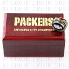 1967 Super bowl CHAMPIONSHIP RING Green Bay Packers 10-13 size with Logo wooden case
