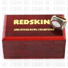 1982 Super bowl CHAMPIONSHIP RING Washington Redskins 10-13 size with Logo wooden case