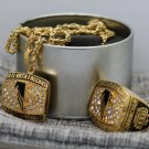One Set 1998 Atlanta Falcons NFC CHAMPIONSHIP Necklace and ring
