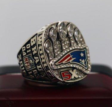 New England Patriots 2017  NFL super bowl championship ring 10S for Tom Brady