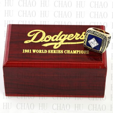 TEAM LOGO WOODEN CASE 1981 LOS ANGELES DODGERS World Series CHAMPIONSHIP RING 10-13S