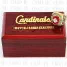 TEAM LOGO WOODEN CASE 1982 St. Louis Cardinals World Series CHAMPIONSHIP RING 10-13S