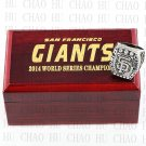 TEAM LOGO WOODEN CASE 2014 San Francisco Giants World Series CHAMPIONSHIP RING 10-13S