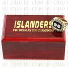 TEAM LOGO WOODEN CASE 1981 New York Islanders Hockey Championship Ring 10-13S
