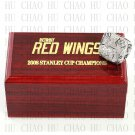 TEAM LOGO WOODEN CASE 2008 Detroit Red Wings Hockey Championship Ring 10-13S