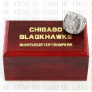 TEAM LOGO WOODEN CASE 2010 Chicago Blackhawks Hockey Championship Ring 10-13S