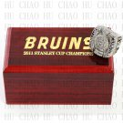 TEAM LOGO WOODEN CASE 2011 Boston Bruins Hockey Championship Ring 10-13S