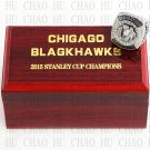 TEAM LOGO WOODEN CASE 2015 Chicago Blackhawks Hockey Championship Ring 10-13S