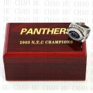 TEAM LOGO WOODEN CASE 2003 Carolina Panthers NFC Football world Championship Ring 10-13S