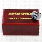 TEAM LOGO WOODEN CASE 2005 Seattle Seahawks NFC Football world Championship Ring 10-13S