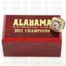 TEAM LOGO WOODEN CASE 2011 Alabama Crimson Tide NCAA Football world Championship Ring 10-13S