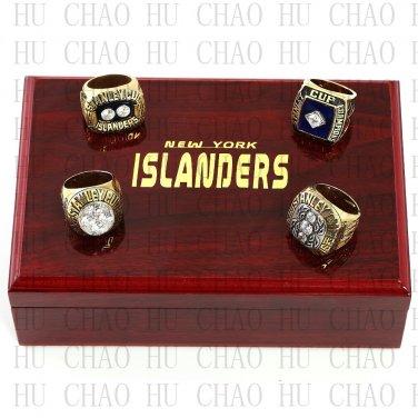 TEAM LOGO CASE SET 4PCS Sets 1980 1981 1982 1983 New York Islanders Hockey Rings 10-13S