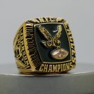 1980 PHILADELPHIA EAGLES NFC Football world Championship Ring copper solid 7-15S
