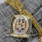 National Championship Ring 2017 Clemson tigers ACC Necklace with 22 inch chain