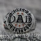 World's Greatest DAD ring NAME CHOOSE Father's day special gift Silver or Brass 10-14S
